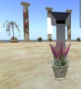 new flowers for podium