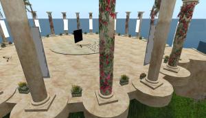peering thru the pillar