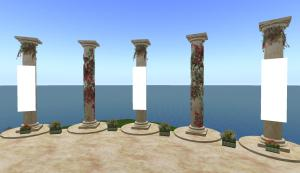 pillars and planters