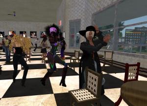 Faust, Dz and Ahuva rocking to Komuso