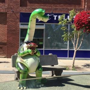 bench dinosaur