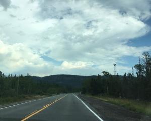 clouds road sky in Ontario