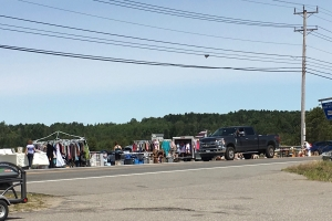 flea market along the road