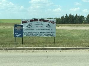 horse fair sign