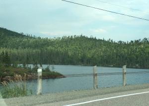 lake along the Ontario road
