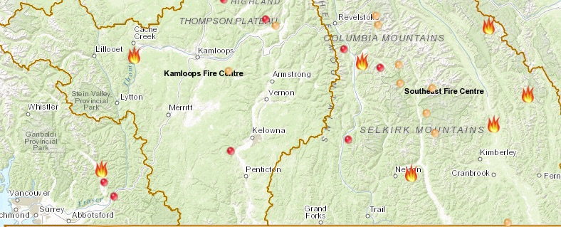 today's wildfires