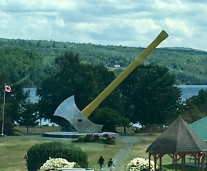 worlds largest axe straight on