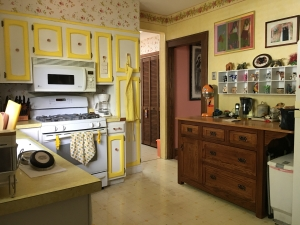 kitchen stove dining room door