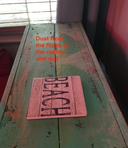 dust on table