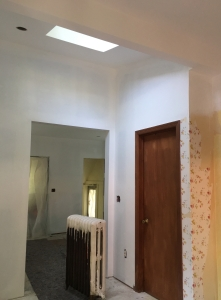 spackled sanded primed walls