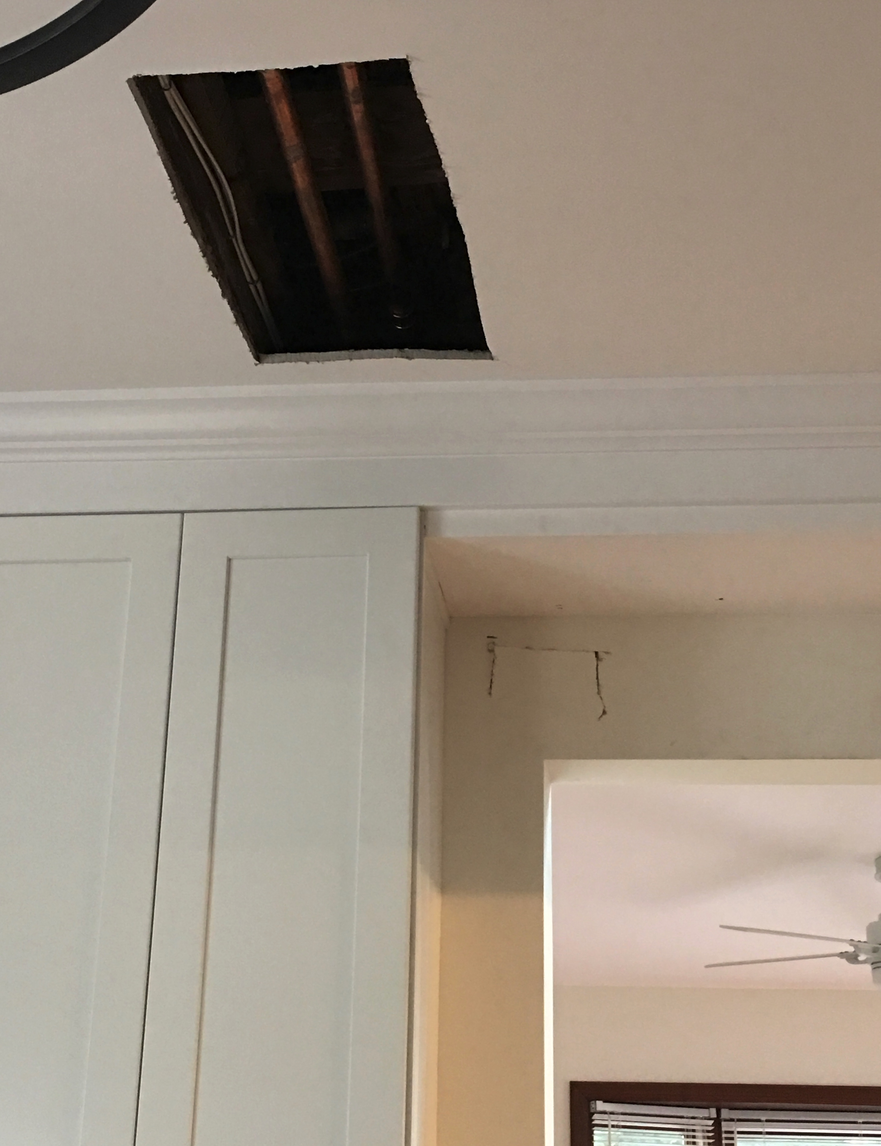 hole in ceiling