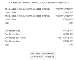 Am Yisrael Chai lyrics
