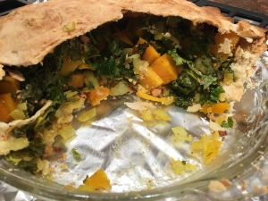 cooked kale pie