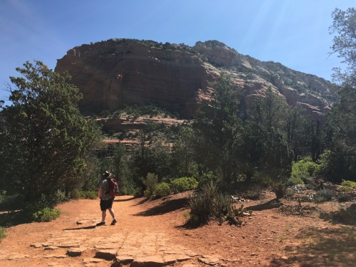hiking to devils bridge