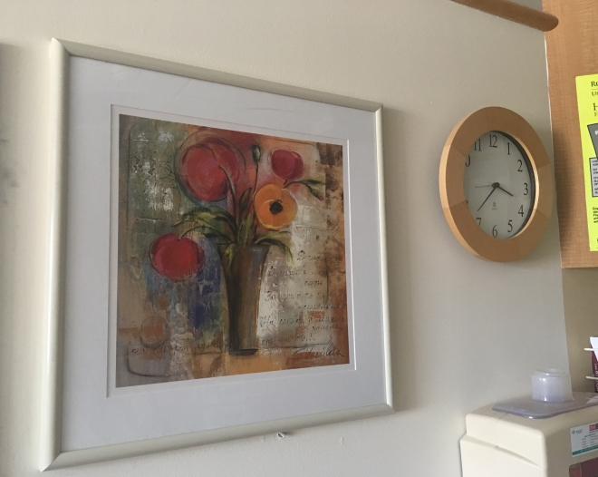 painting and clock
