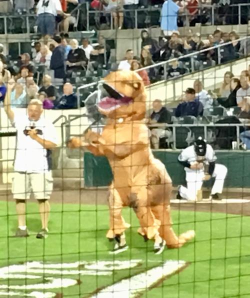 Dancing dinosaur
