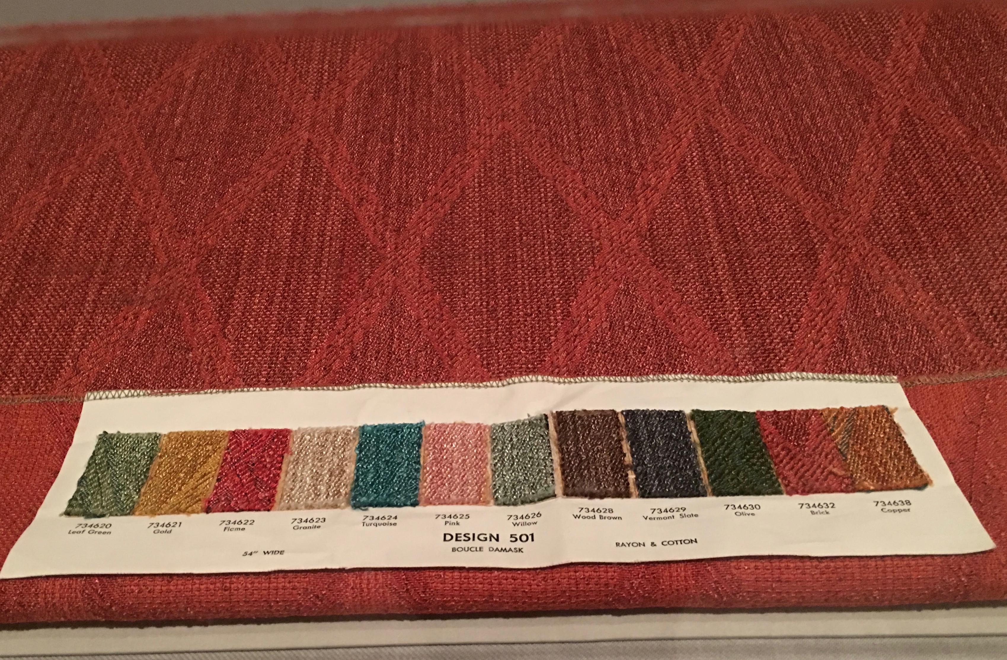 FLW fabric boucle damask