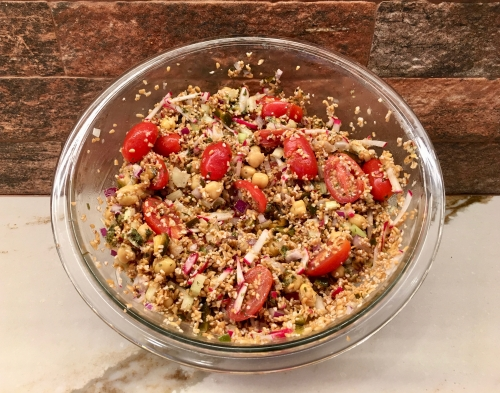 garlic and zest cracked wheat salad