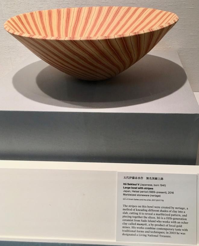 japanese striped bowl