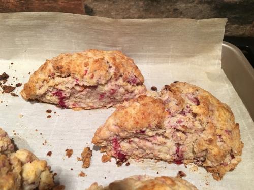 2 cranberry scones
