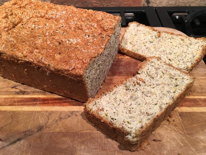 cauliflower garlic bread sliced
