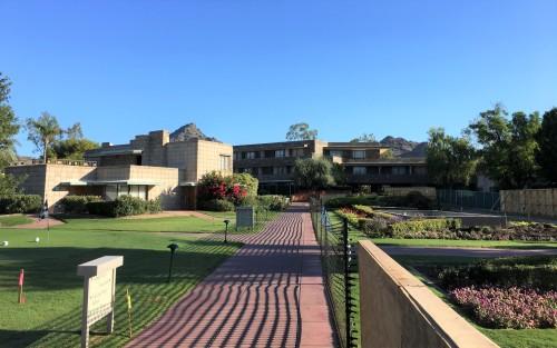 left walkway to Terrace Court