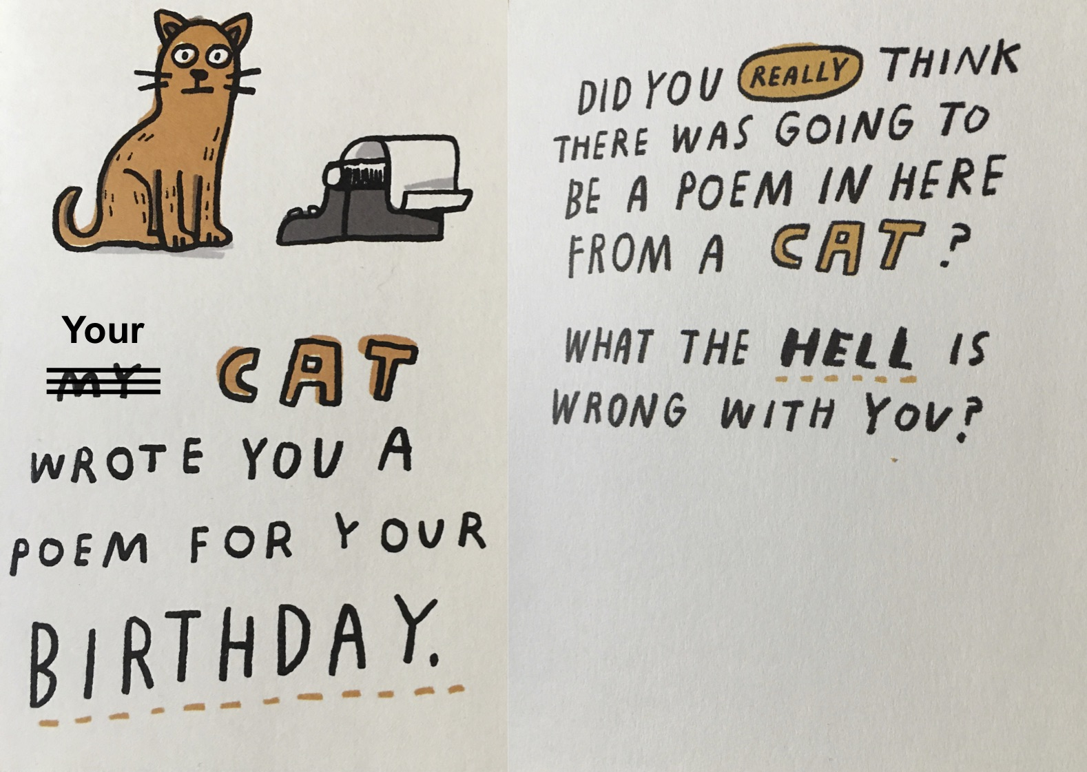 cat poem birthday card