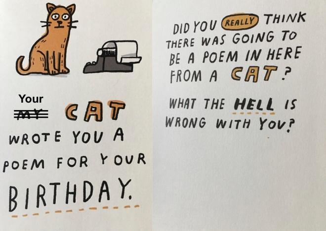 cat poem birthday card