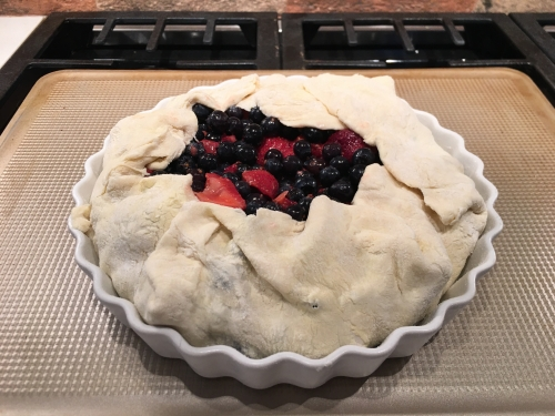 berry galette before baking