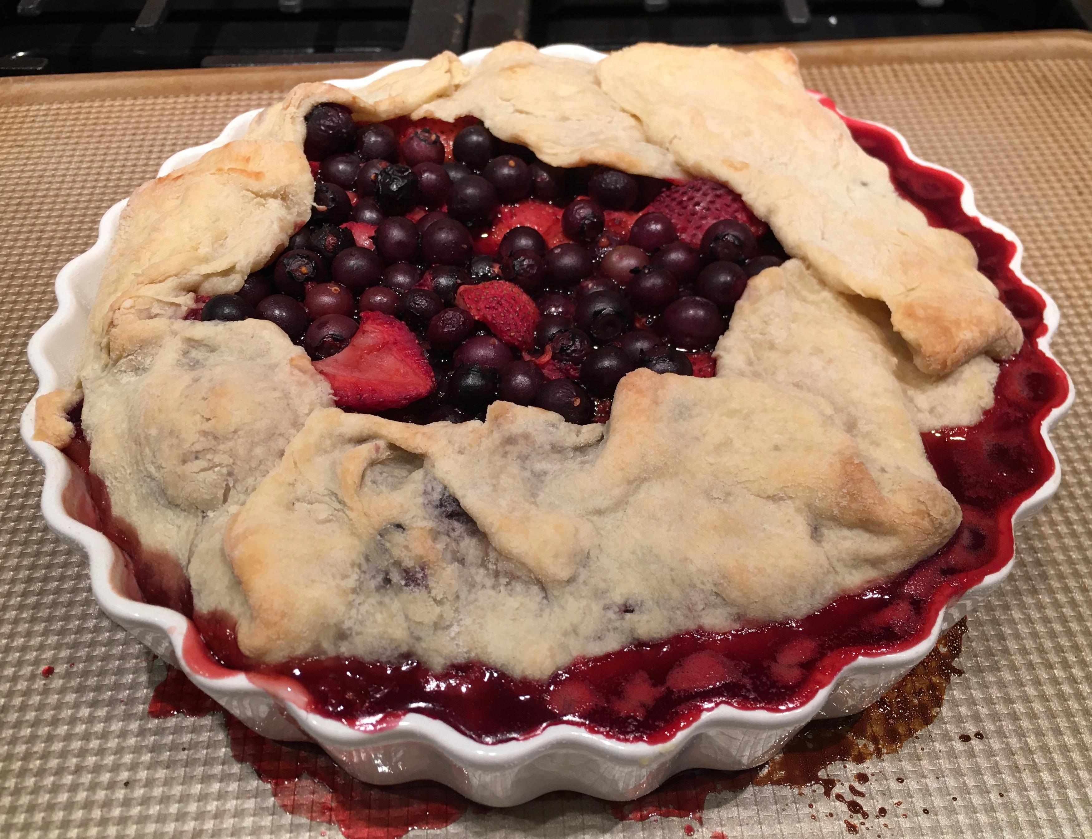 fresh baked berry galette