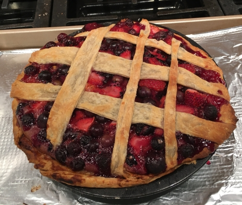 Spur of the moment berry pie