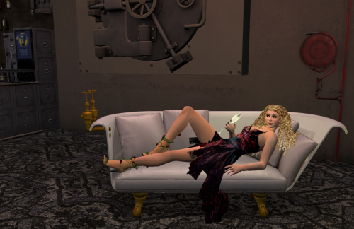 relaxing at The Vault