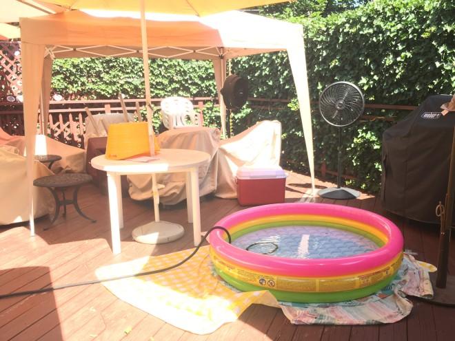 setting up Spa Ahuva